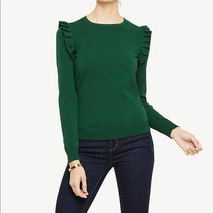 Ann Taylor Shoulder Ruffle Sweater